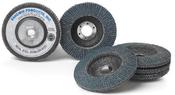 4-1/2 x 5/8-11 40-Grit Zirconia Flap Discs, Type 27/Flat Fiberglass (10/Pkg.)