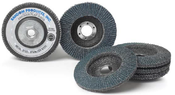 4-1/2 x 5/8-11 80-Grit Zirconia Flap Discs, Type 27/Flat Fiberglass (10/Pkg.)