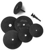 1/4 Arbor Hole x 1/4 (M-22) Cut Off Wheel Adapter (100/Pkg.)
