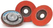 4-1/2 x 5/8-11 80-Grit Type 27 Ceramic Flap Discs (10/Pkg.)