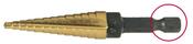 """1/4-3/4"""" Type 78-QRN Titanium Nitride Coated Step Drill (1/Pkg.)"""