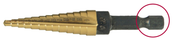 "7/8A"" Type 78-QRN Titanium Nitride Coated Step Drill (1/Pkg.)"