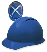 Blue Vent Cap Style: 4-Point Nylon Suspension With Rachet Adjustment Safety Hat (12/Pkg.)