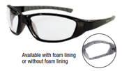 Ammo® With Foam Liner Black Frame Gray Anti-Fog Lens (12/Pkg.)