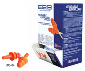 Orange ERB-04 Reusable Uncorded Ear Plugs (100/Pairs)