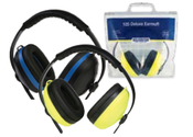Black with Blue trim 105 Deluxe  Earmuffs (12/Pkg.)