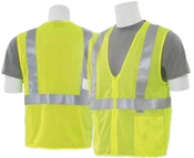 2X-Large S15Z Lime ANSI Class 2 Vest Mesh Hi-Viz Lime - Zipper
