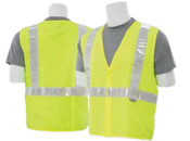 2X-Large S17 Lime ANSI Class 2 Safety Vest Woven Oxford Hi-Viz Lime - Hook & Loop