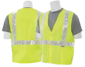 2X-Large S17P Lime ANSI Class 2 Vest w/ Pockets Woven Oxford Hi-Viz Lime - Hook & Loop