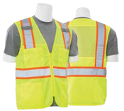 2X-Large S149 Lime ANSI Class 2 Vest Tricot & Mesh Hi-Viz Lime - Zipper