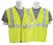 2X-Large S150 Lime ANSI Class 2 Vest Flame Resistant Modacrylic Hi-Viz Lime - Hook & Loop