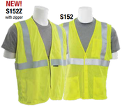 2X-Large S152 Lime ANSI Class 2 Vest Flame Resistant Modacrylic/Aramid Blend Mesh Hi-Viz Lime - Hook & Loop