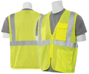 2X-Large S169 Lime ANSI Class 2 Vest Mesh Hi-Viz Lime - Zipper