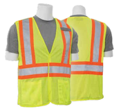 2X-Large S322 Lime ANSI Class 2 Vest Mesh Hi-Viz Lime - Hook & Loop