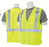 2X-Large S360 Lime ANSI Class 2 Vest Woven Oxford Break-Away Hi-Viz Lime - Hook & Loop