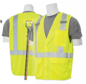 2X-Large S361 Lime ANSI Class 2 Vest Tricot Break-Away with D-Ring Slot Hi-Viz Lime - Hook & Loop