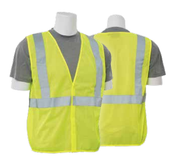 2X-Large S362 Lime ANSI Class 2 Vest Mesh Economy Hi-Viz Lime - Hook & Loop