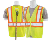 2X-Large S381 Lime ANSI Class 2 Mesh Hi-Viz Lime D-Ring - Zipper