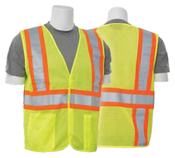 2X-Large S382 Lime ANSI Class 2 DOT Vest Mesh Hi-Viz Lime - Hook & Loop