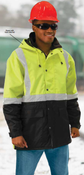 3X-Large W144 Lime & Black ANSI Class 3 Parka Hi-Viz Lime & Black - Zipper