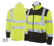 3X-Large W650 Lime ANSI Class 3 Men's Soft Shell Jacket Hi-Viz Lime & Black - Zipper