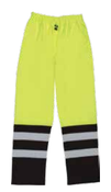 2X-Large S849 Lime ANSI Class E Two-Tone Rain Pants Hi-Viz Lime