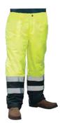 2X-Large S850PT Lime ANSI Class E Lined Rain Pant Hi-Viz Lime