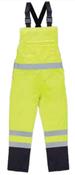 2X-Large S860BIB Lime ANSI Class E Bib Rain Pant Hi-Viz Lime