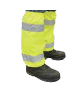 Hi-Viz Lime Leg Gaiters Oxford w/PU Coating