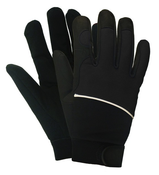 Black M100 Mechanics Gloves, EXTRA-LARGE