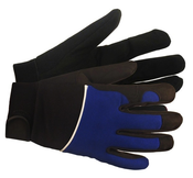 Blue M100 Mechanics Gloves, LARGE