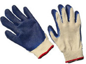 Blue Latex Coated String Gloves,  LARGE (12/Pairs)