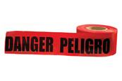 "Bilingual Barricade Tape Danger Red/Blk, 3"" x 1000' (10/Rolls)"