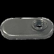 "1/4""-20 Spot Weld Nut, Single Tab, With Target (4000/Bulk Pkg.)"