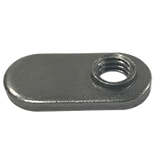 M6X1.00-6H Spot Weld Nut, Single Tab, With Target (3000/Bulk Pkg.)