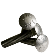 "1/2""-13x16"" 6"" Thread Under-Sized Carriage Bolts A307 Grade A Coarse HDG (5/Pkg.)"