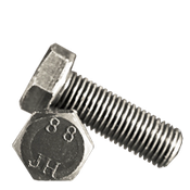 M8-1.25x50 mm (FT) Hex Cap Screws 8.8 DIN 933 / ISO 4017 Coarse Med. Carbon Plain (100/Pkg.)