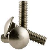 "1/4""-20x2-1/2"" Carriage Bolts Coarse 18-8 Stainless Steel (100/Pkg.)"