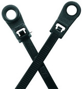 "11.8"" #10 UV Black Mounting Hole Cable Ties 50lb. (100/Bag)"