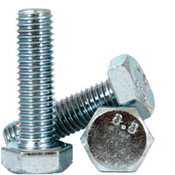 M16-2.00x140 MM (PT) DIN 931 / ISO 4014 Hex Cap Screws 8.8 Coarse Med. Carbon Zinc CR+3 (25/Pkg.)