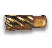 "1-1/8"" M42 Gold Finish, Type 15, Super Cobalt Steel Annular Cutter, Norseman Drill #14791"