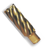 """1-1/8"""" Spira-Broach Type 15L, M42 - HSS plus 8% Cobalt, Gold Finish, Annular Cutter, Norseman Drill #14792"""