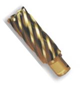 """1-1/4"""" Spira-Broach Type 15L, M42 - HSS plus 8% Cobalt, Gold Finish, Annular Cutter, Norseman Drill #14872"""