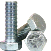 "1""-14x6-1/2"" (PT) Hex Cap Screws Grade 5 Fine (UNS) Med. Carbon Zinc CR+3 (10/Pkg.)"
