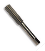 #10-24 HSS Type 25L-AG Gold Oxide Left Hand Straight Flute Hand Tap - Bottoming (3/Pkg.), Norseman Drill #60264