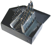 15 Piece Type 175-AG,  Mechanic Length, 135 Degree Split Point, Drill Bit Set, Norseman Drill #66470