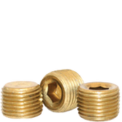 "Image of 1/2""-14 Pipe Plugs Brass Dry-Seal 3/4"" Taper  (USA) (500/Bulk Pkg.)"