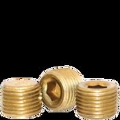 "Image of 1/2""-14 Pipe Plugs Brass Dry-Seal 3/4"" Taper  (USA) (500/Bulk Pkg.)"