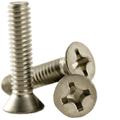 "#0-80x1/4"" F/T Phillips Flat Head Machine Screws, Fine 18-8 A-2 Stainless Steel (1,000/Pkg.)"