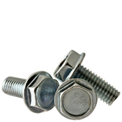 "#10 - 32 X 1"" F/T Machine Screw Indented Hex Head Washer (Fine) Zinc CR+3 (3,000/Bulk Pkg.)"